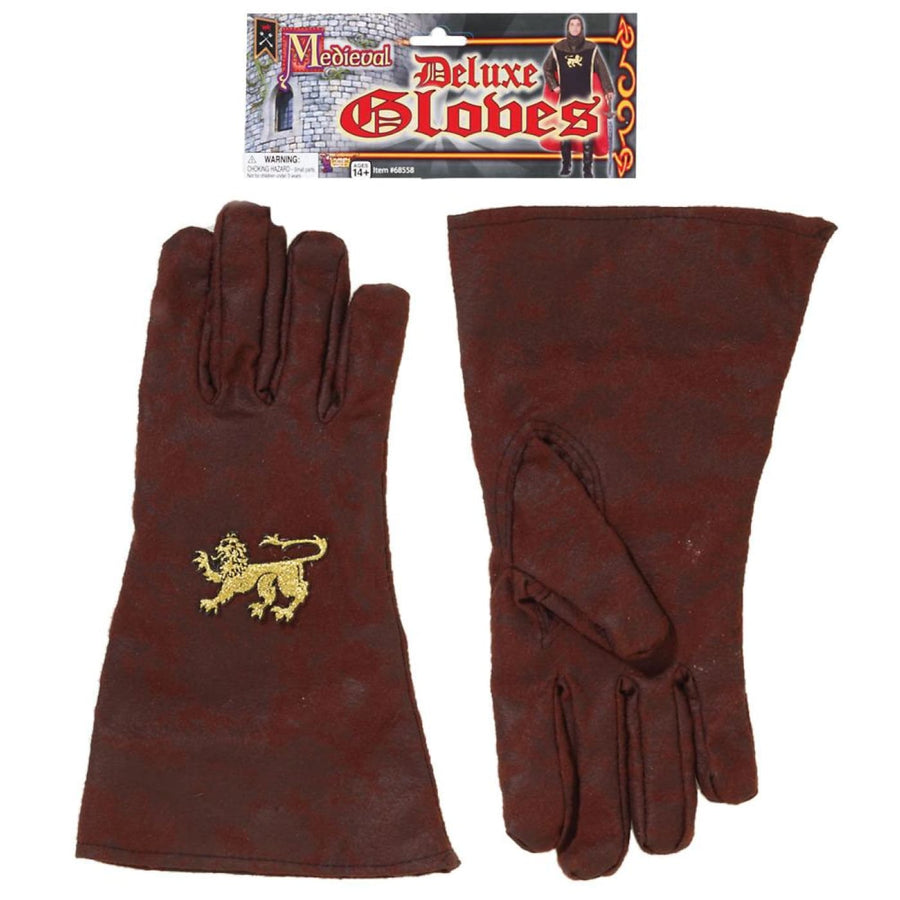 Medieval Deluxe Adult Gloves - New Costume
