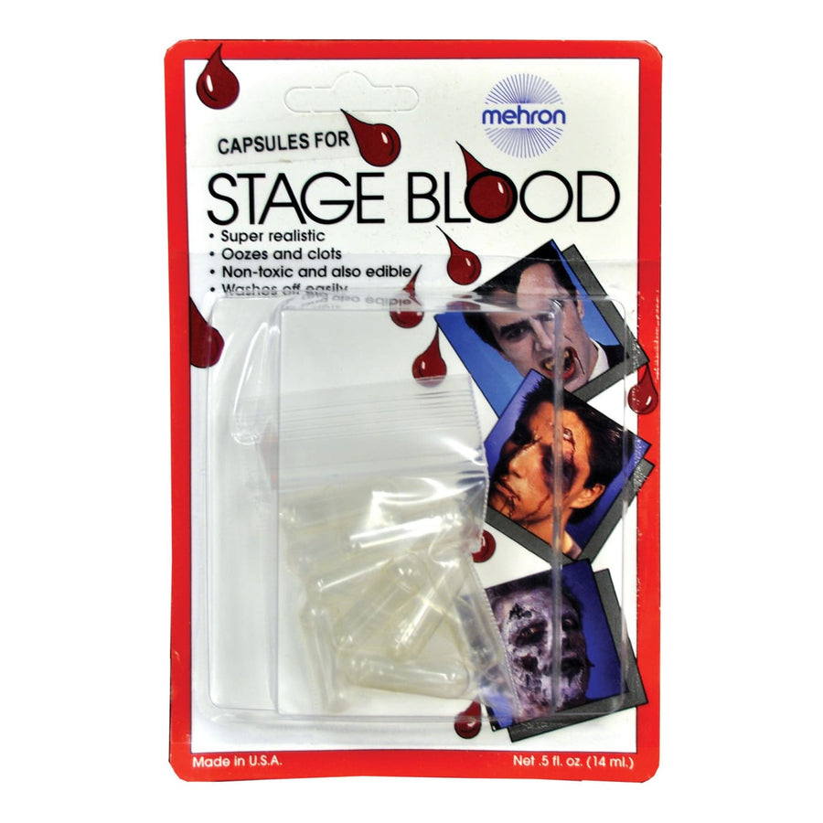 Mehron Capsules For Blood 12 Pack - Costume Makeup Halloween costumes Halloween
