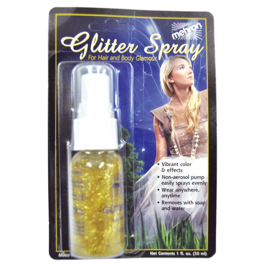 Mehron Glitter Spray Gold - Costume Makeup Halloween costumes Halloween makeup