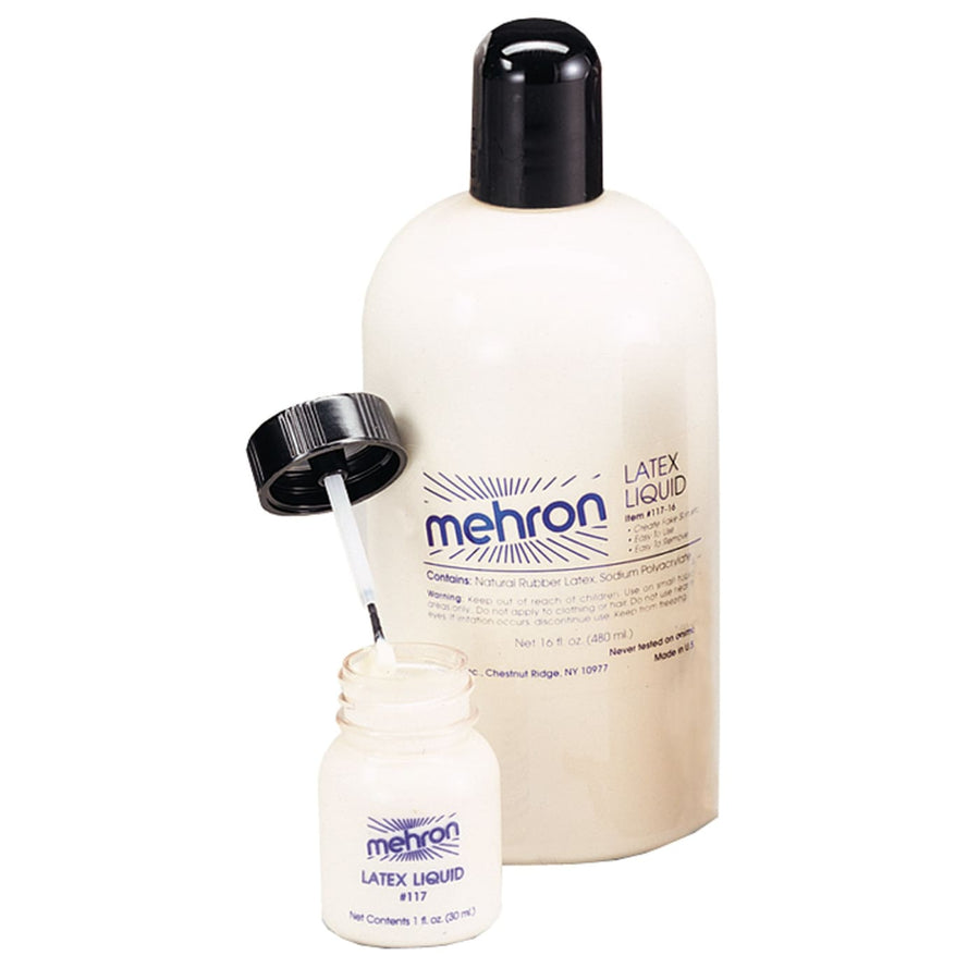 Mehron Liquid Latex 1 oz W Brush - Costume Makeup Halloween costumes Halloween
