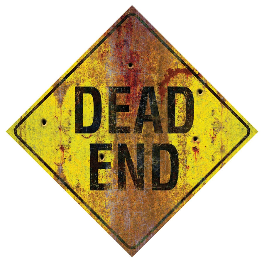 Metal Sign-Dead End - Decorations & Props Halloween costumes haunted house
