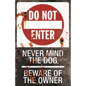 Metal Sign-Do Not Enter - Decorations & Props Halloween costumes haunted house