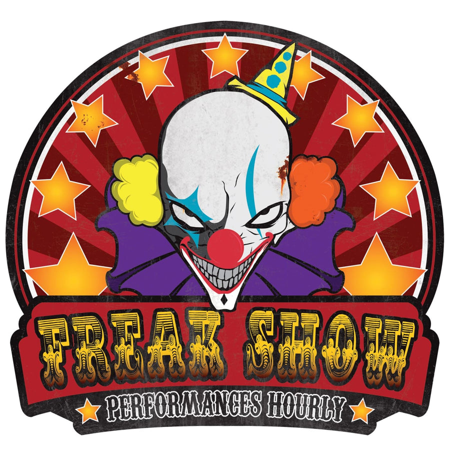 Metal Sign Freak Show - Decorations & Props