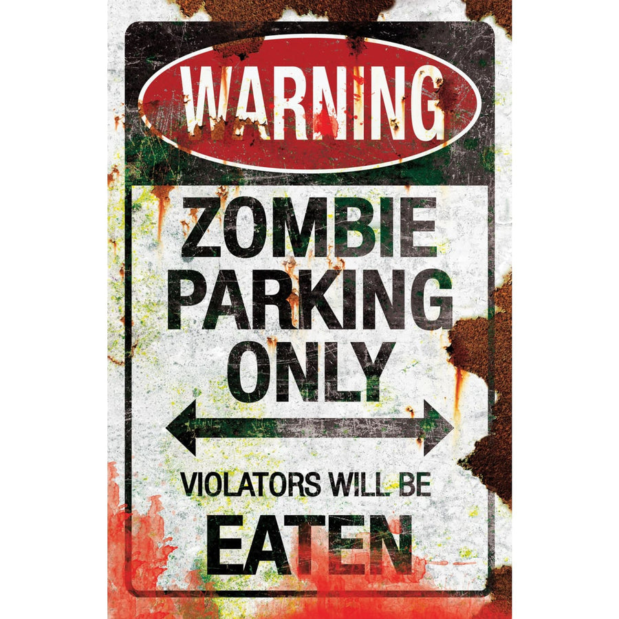 Metal Sign-Zombie Parking - Decorations & Props Halloween costumes haunted house