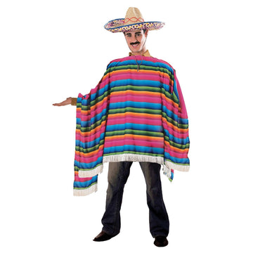Mexican Serape & Sombrero - adult halloween costumes halloween costumes male