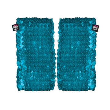 Mh Arm Warmer Blue Sequin Chld - Glasses Gloves & Neckwear Halloween costumes