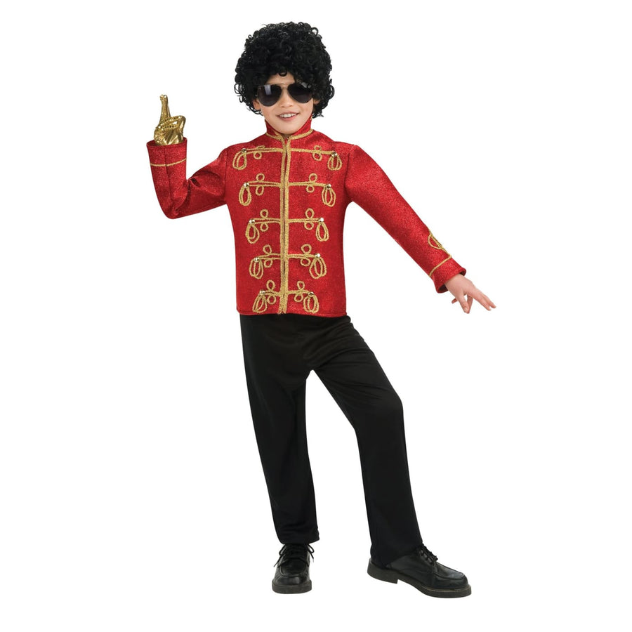 Michael Jackson Military Jacket Boys Costume Sm - Boys Costumes boys Halloween