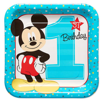 Mickey Mouse 9 Inch Plates -Set of 8 - Birthday Party Decorations Birthday Party