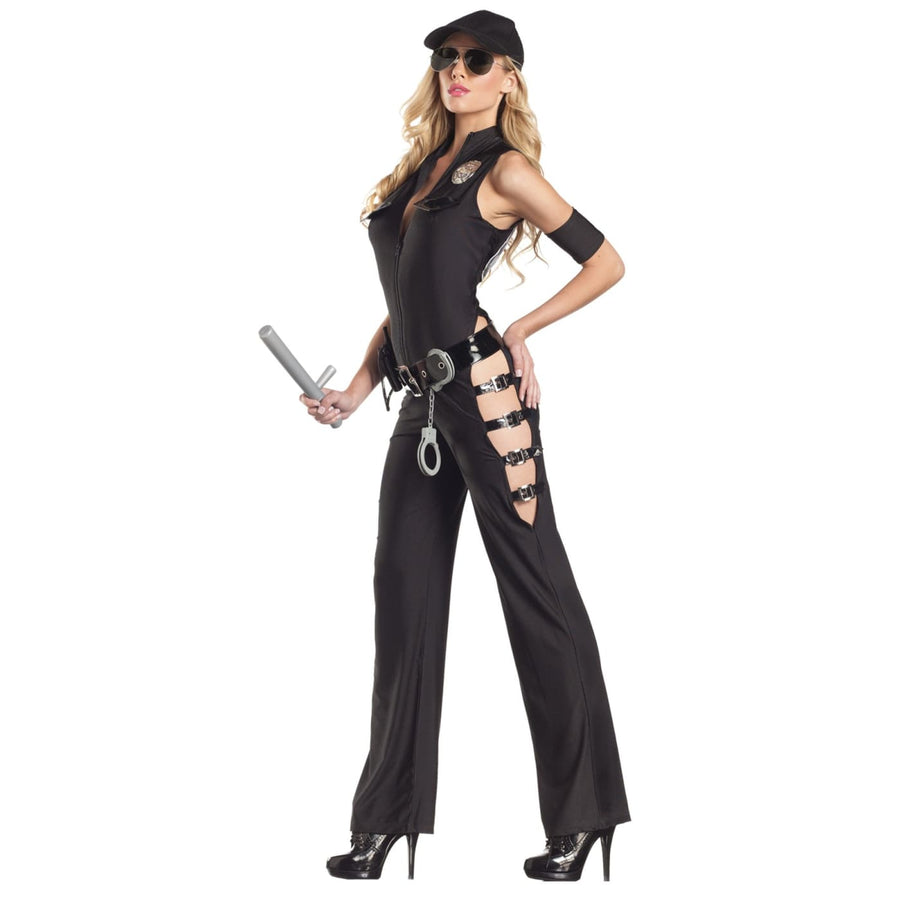 Midnight Sheriff Sexy Adult Costume Sm-Med - adult halloween costumes Convict &