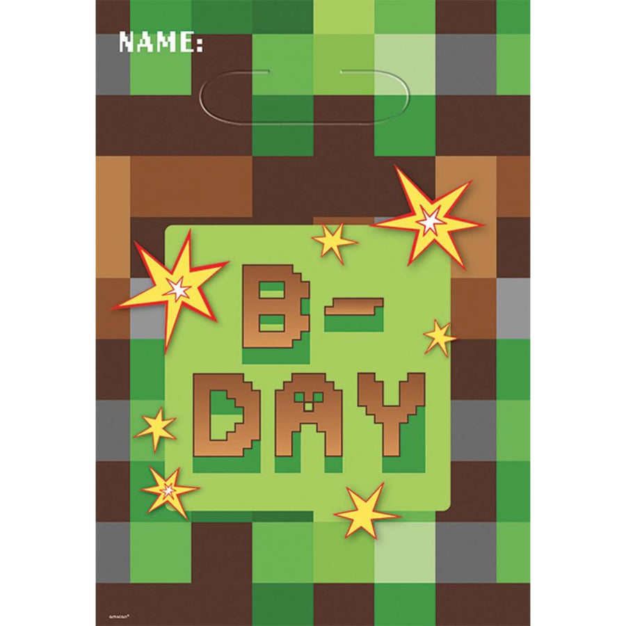Minecraft Loot Bags -Set of 8 - Birthday Party Decorations Birthday Party Plates