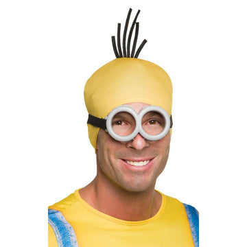Minion Adult Goggles - Despicable Me Costume Glasses Gloves & Neckwear Halloween
