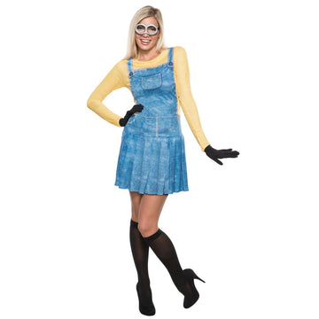 Minion Female Adult Costume Small - adult halloween costumes Despicable Me
