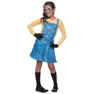Minion Female Kids Costume Medium 8-10 - Despicable Me Costume Girls Costumes