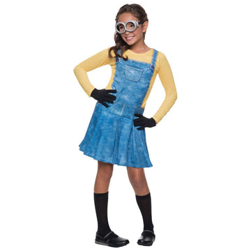 Minion Female Kids Costume Small 4-6 - Despicable Me Costume Girls Costumes