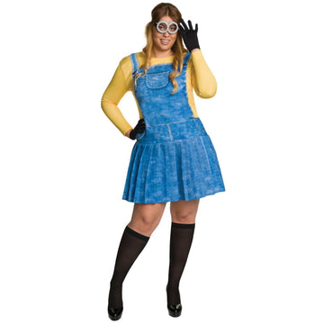 Minion Plus Size Adult Costume - adult halloween costumes Despicable Me Costume