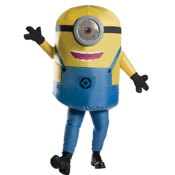 Minion Stuart Inflatable Adult Costume - adult halloween costumes Despicable Me