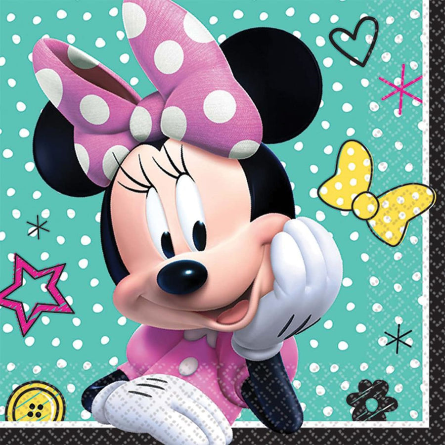 Minnie Mouse Helpers Beverage Napkins -Set of 16 - Birthday Party Decorations