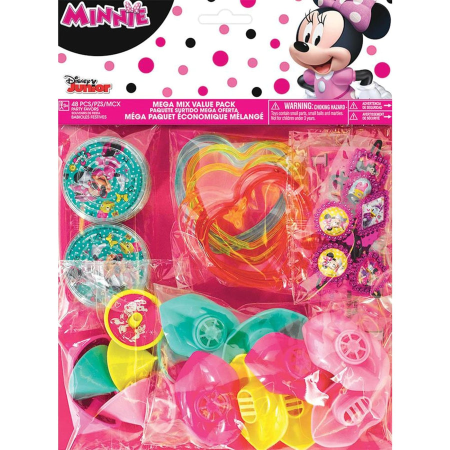 Minnie Mouse Helpers Friendship Party Favors Pack - Birthday Party Decorations