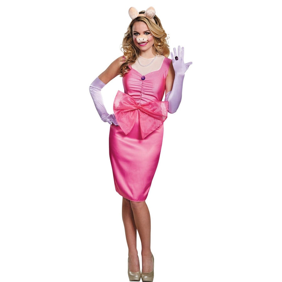 Miss Piggy Delxue Adult Costume Small 4-6 - adult halloween costumes female