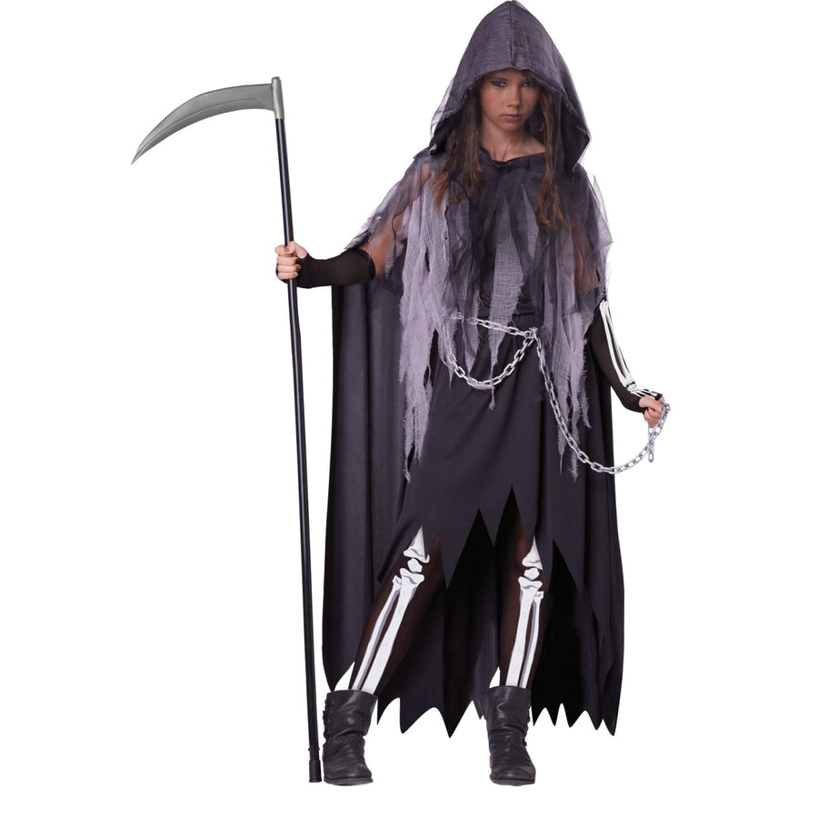 Miss Reaper Tween Costume Lg 10-12 - Ghoul Skeleton & Zombie Costume