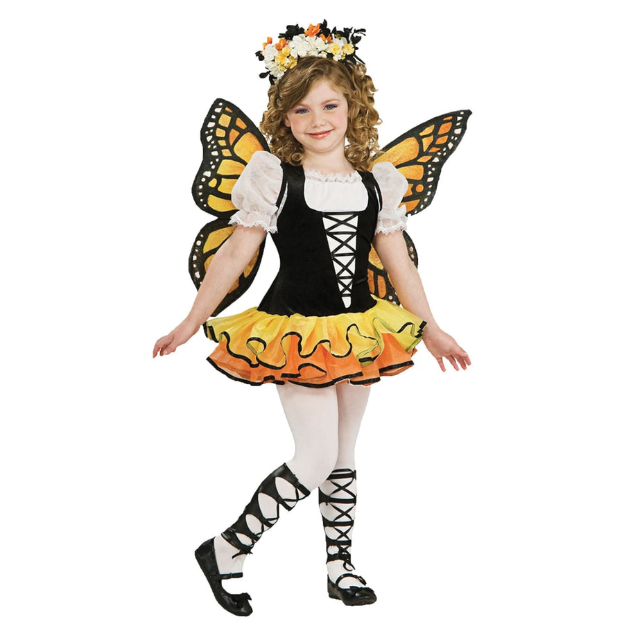 Monarch Butterly Kids Costume Sm 4-6 - Animal & Insect Costume Girls Costumes