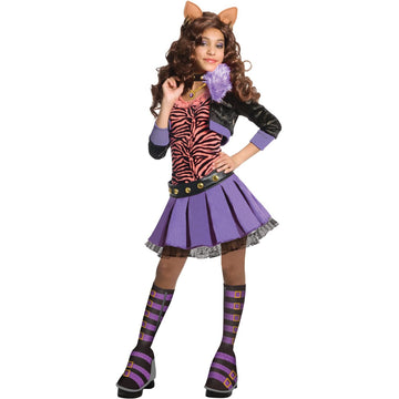 Monster High Clawdeen Wolf Child Costume Deluxes Sm - Girls Costumes girls