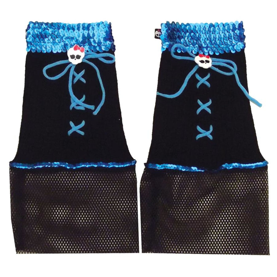 Monster High Creeperifc Black Blue Girls Leg Warmers - New Costume