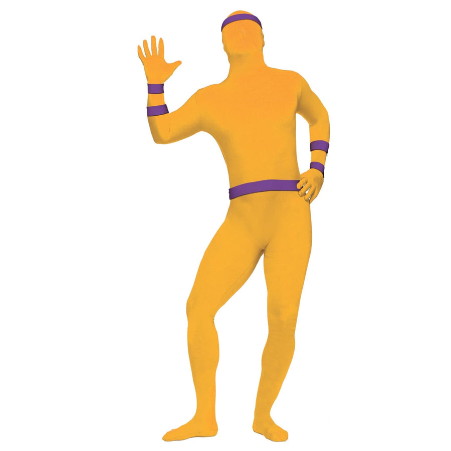 Morph Suit Zentai Sport Stripes Purple Adult Costume - Halloween costumes Tights