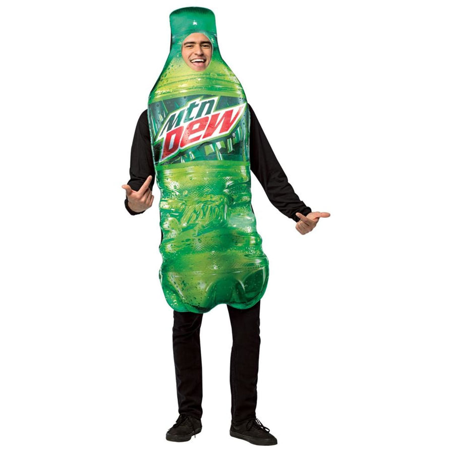Mountain Dew Get Real Bottle Adult Costume - adult halloween costumes halloween