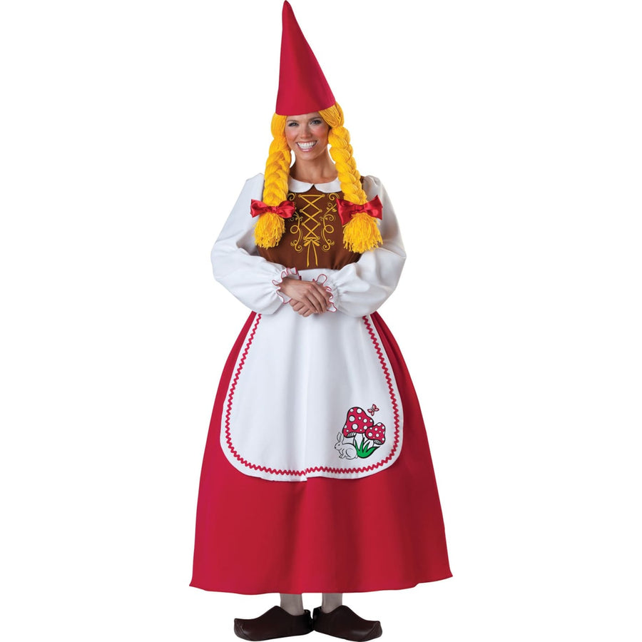 Mrs. Garden Gnome Adult Costume Sm - adult halloween costumes female Halloween