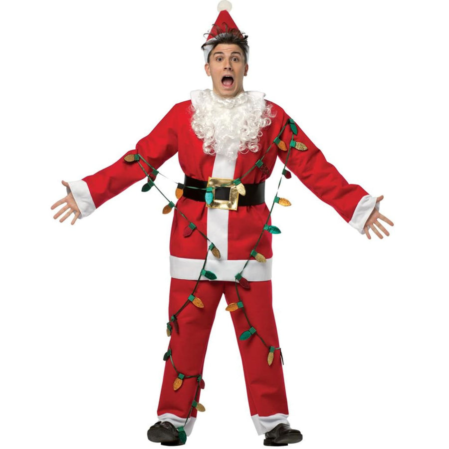 National Lampoons Christmas Vacation Santa Suit Adult Costume - adult halloween