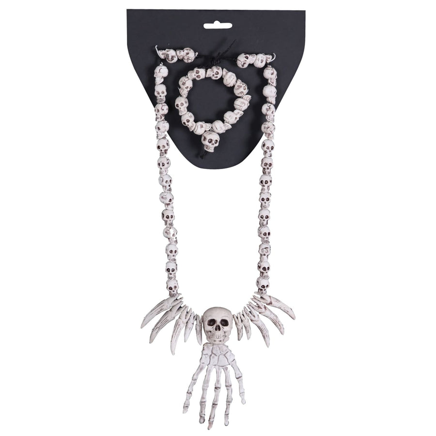 Necklace Bracelet Combo-Skulls - Fashion Jewelry Halloween costumes