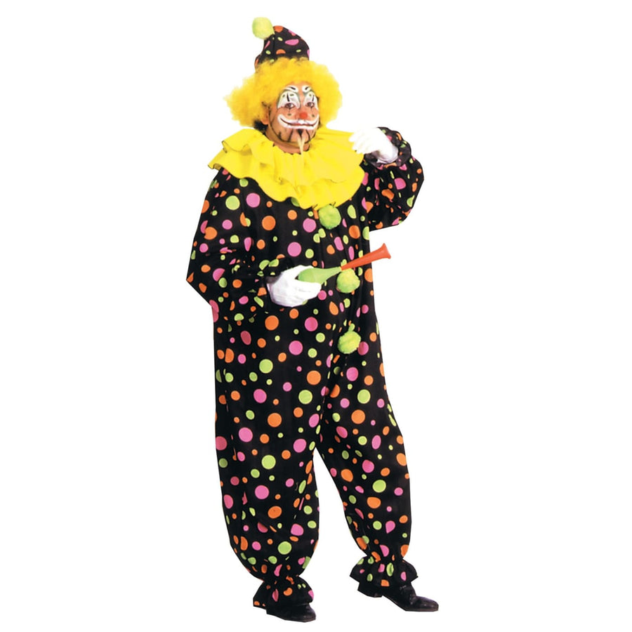 Neon Dotted Clown Full Sz - Clown & Mime Costume clown costumes Halloween