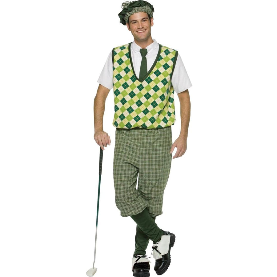 Old Tyme Golfer Adult Costume - adult halloween costumes Cheerleader & Sports