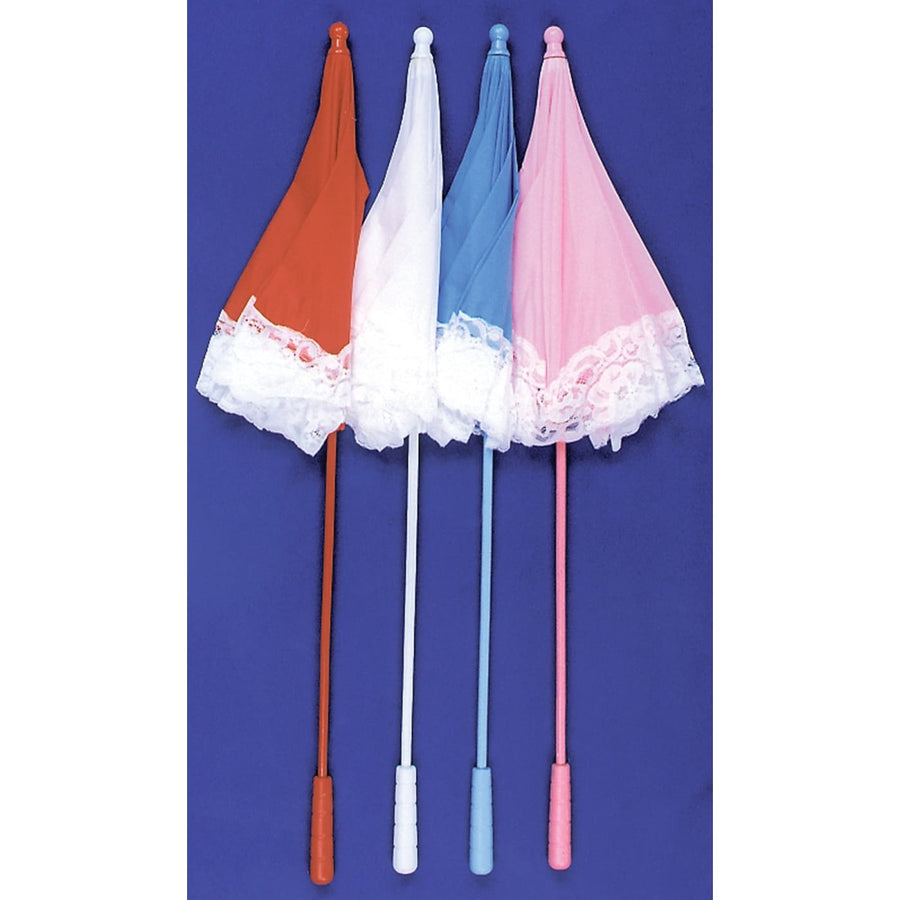 Parasol Nylon Ruffle Blue - Halloween costumes Miscellaneous Accessories Parasol