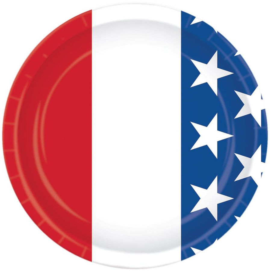 Patriotic 7 Inch Plates -Set of 8 - Birthday Party Decorations Birthday Party