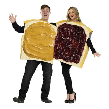 Peanut Butter-Jelly Couple Costume - adult halloween costumes female Halloween