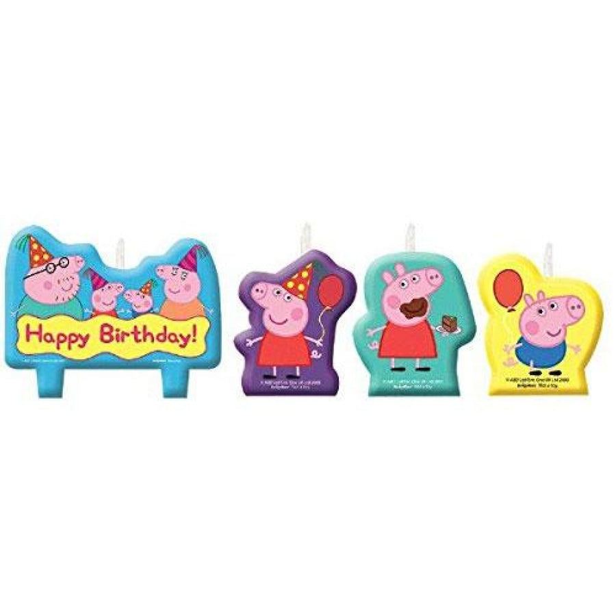 Peppa Pig Birthday Candles -Set of 4 - Birthday Party Decorations Birthday Party