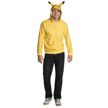 Pikachu Hoodie Adult Costume Small - adult halloween costumes halloween costumes