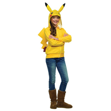 Pikachu Hoodie Tween Small 4-6 - Girls Costumes Halloween costumes