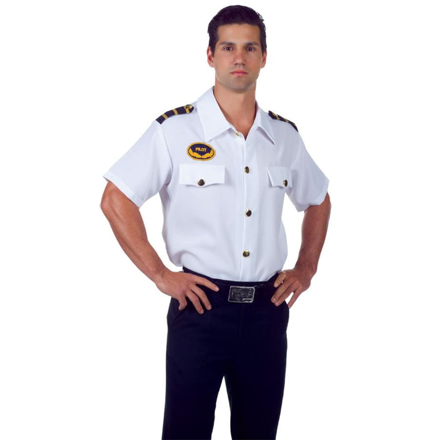 Pilot Shirt Adult Costume Xl - adult halloween costumes halloween costumes male