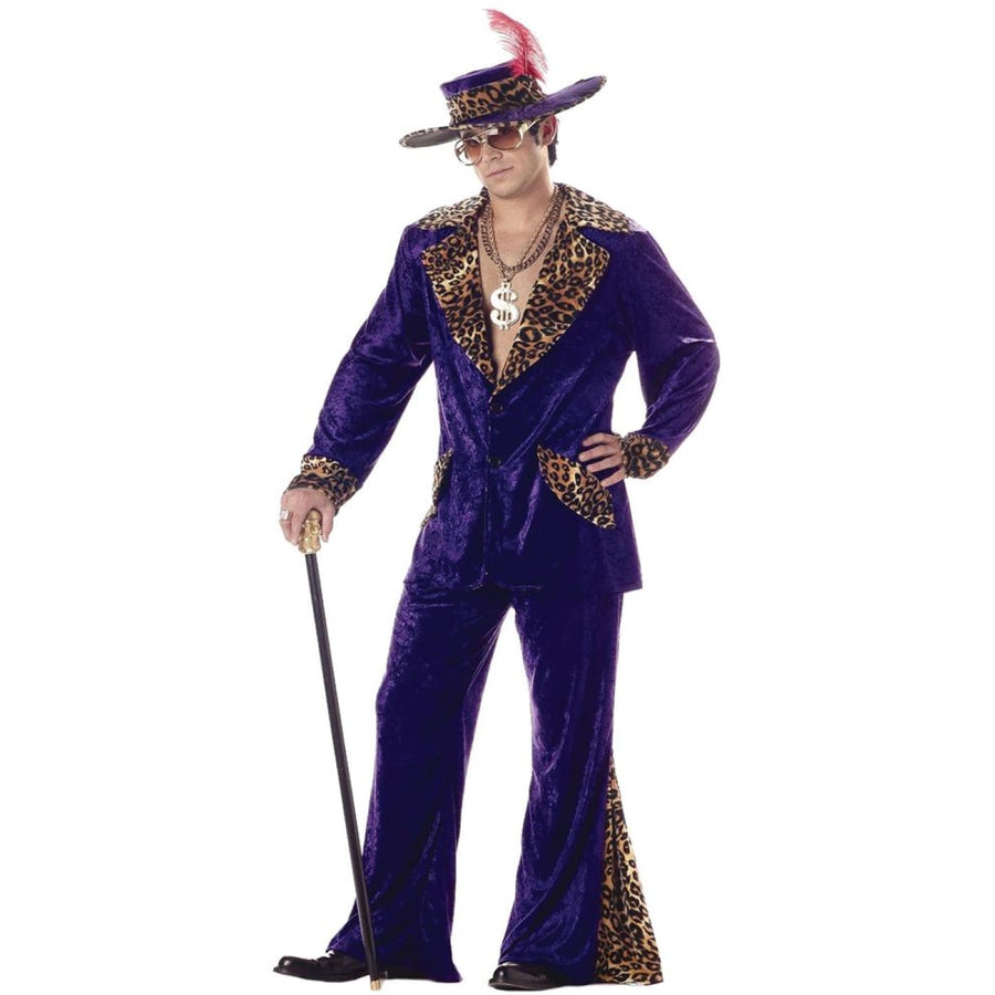 Pimp Purple Adult Costume Large - adult halloween costumes Gangster & Flapper