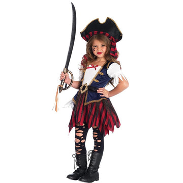Pirate Caribbean Kids Costume Medium 7-8 - featured Girls Costumes girls