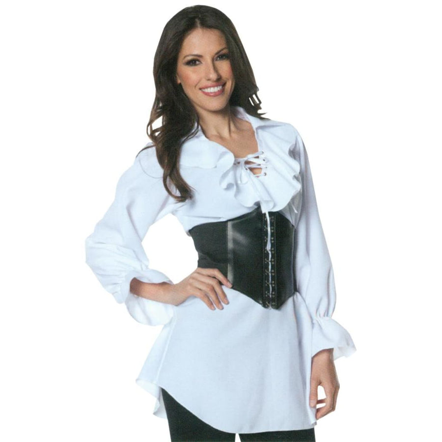 Pirate Laced Front Blouse Adult Costume Medium - Halloween costumes Pirate