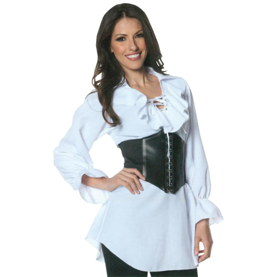 Pirate Laced Front Blouse Adult Costume Small - adult halloween costumes female