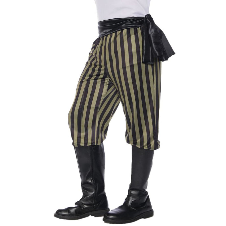 Pirate Pant Mens Costume Green Black S - Halloween costumes Mens Costumes New