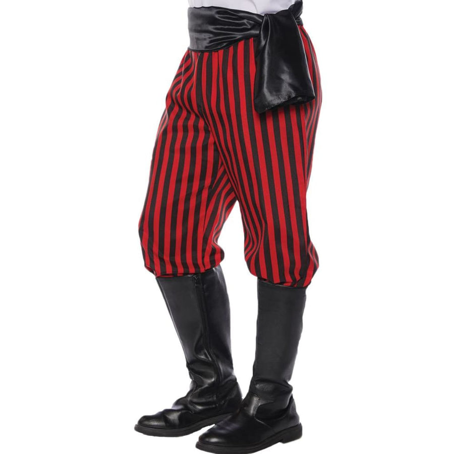 Pirate Pants Mens Costume Red Black Std - Halloween costumes Mens Costumes New