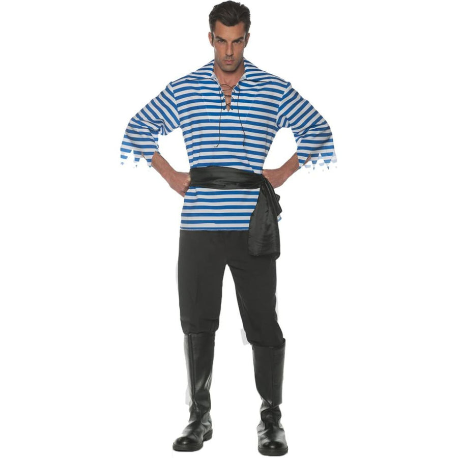 Pirate Set Mens Costume Blue Xxl - Halloween costumes Mens Costumes Mens Plus