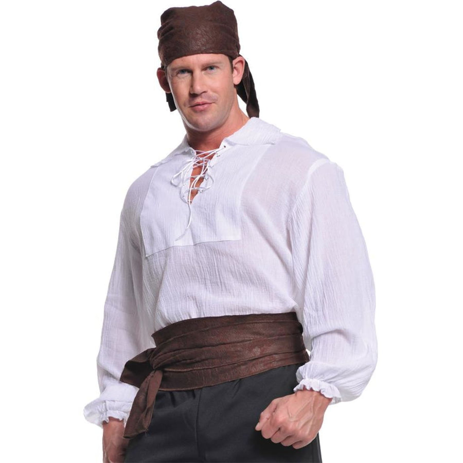 Pirate Shirt Cream Adult Costume Xlarge - adult halloween costumes halloween