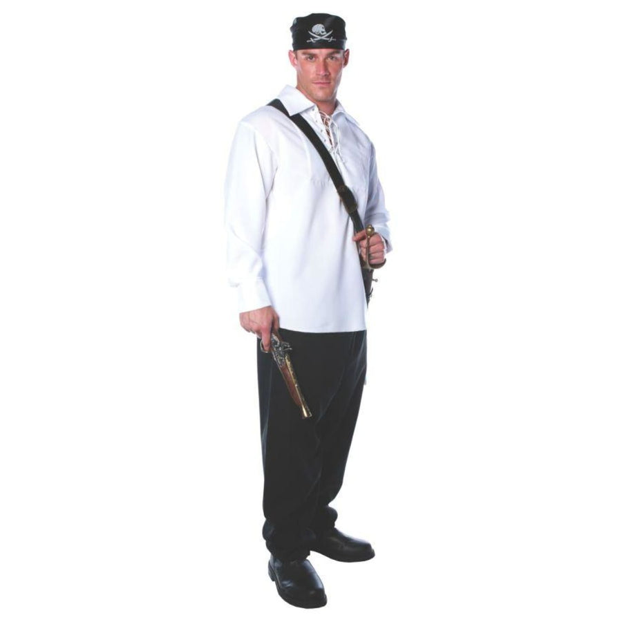 Pirate Shirt Mens One Size - Halloween costumes male Halloween costumes Mens
